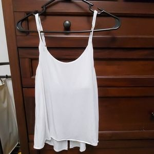 White tank top with open back